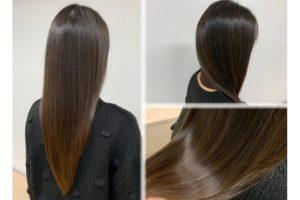 平塚の美容院バグースの艶髪スタイル